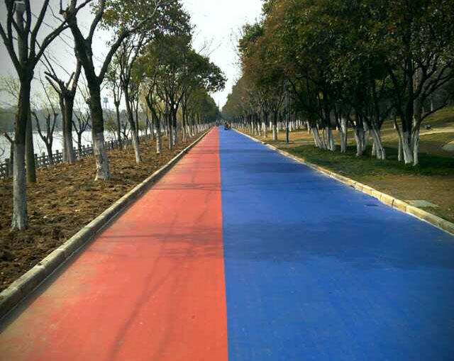 彩色道路施工