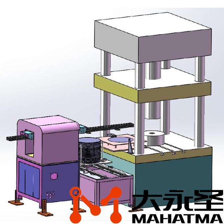 油压机冲压机械手(单工位)+双工位台供料台