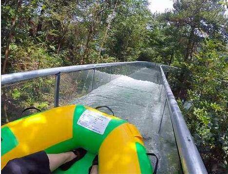 玻璃漂流河|透明水滑道|玻璃水滑道