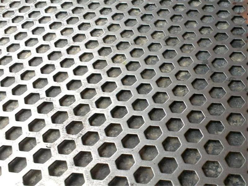 机器散热罩六角孔冲孔网