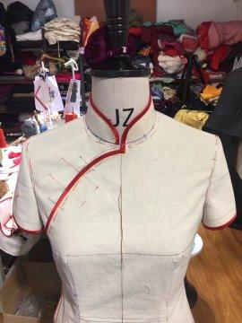 鄭州天美服裝設計培訓 工作室 旗袍課案例