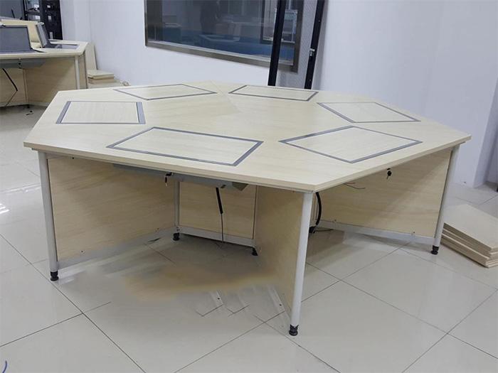 銀川優良銀川翻轉電腦六角桌,認準寧夏金蘭家具-平涼翻轉電腦六角桌