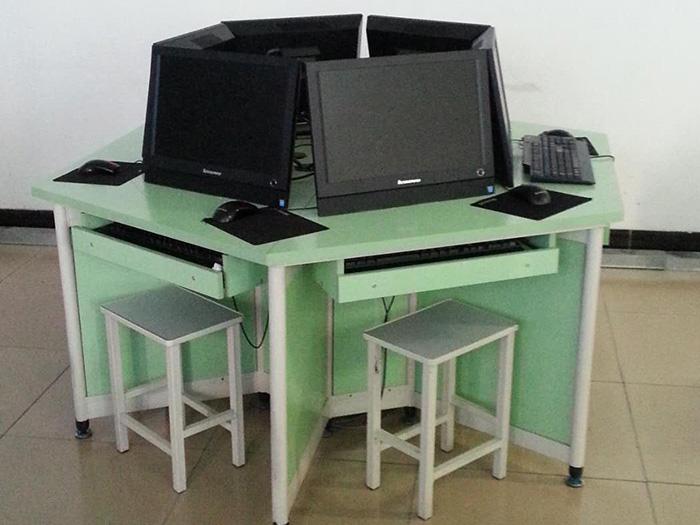银川我��一起加油翻转电脑六角桌|银川知名的厂商|银川翻转电脑六角桌