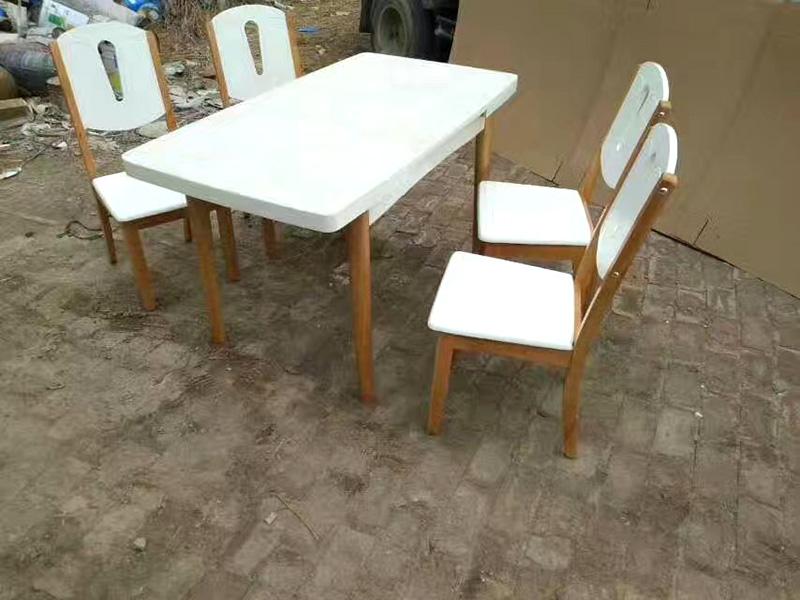 供应直销质量好的白茬餐桌椅 白茬餐桌椅定制