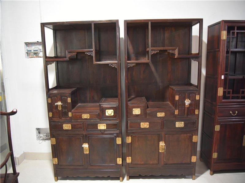 大红酸枝书柜二组合书房家具交趾黄檀红酸枝书架柜实木书柜