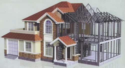 广安轻钢别墅价位_买耐用的轻钢别墅,就来众新嘉美钢桔构工程
