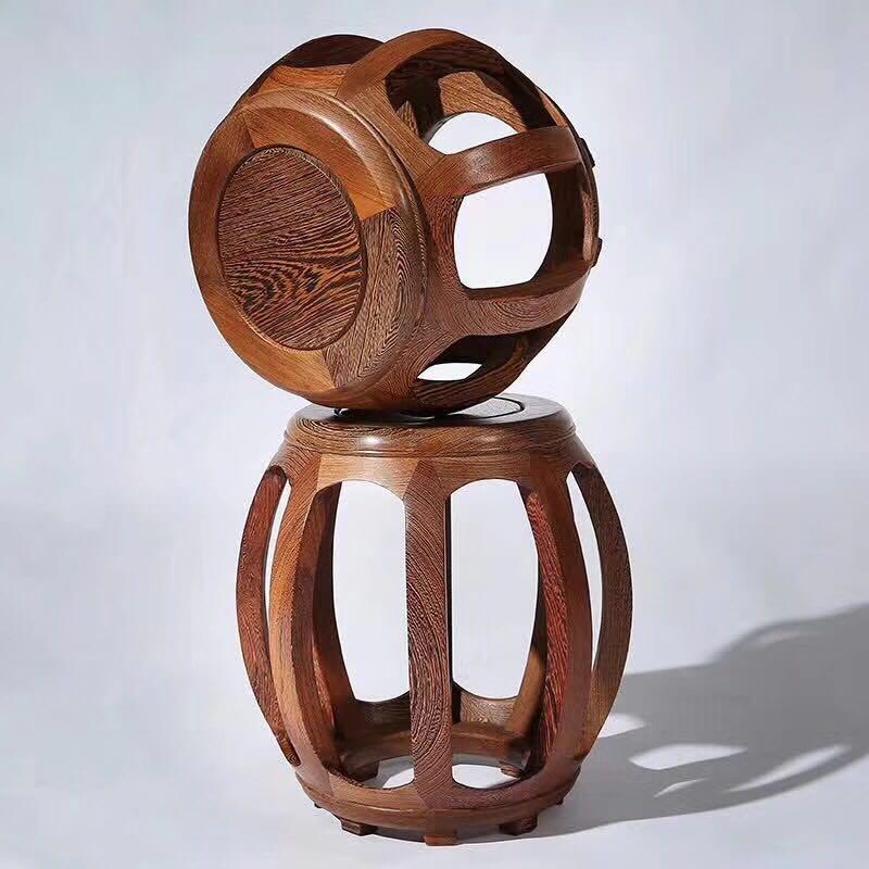 红木鸡翅木圆鼓凳小圆凳小木凳小板凳小凳子实木换鞋凳矮凳板凳