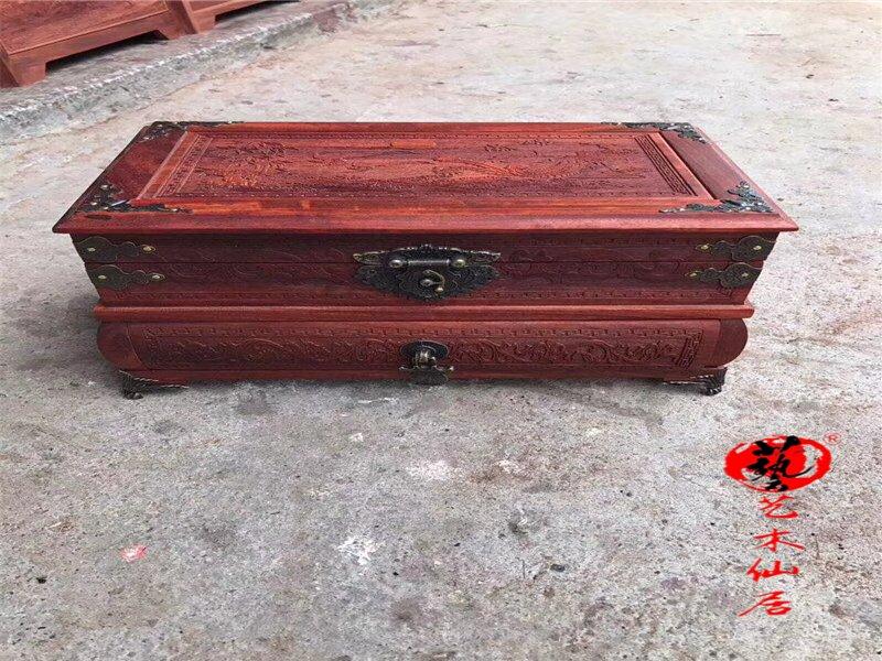 血檀锦上添花首饰盒内隔层铜沉工艺盒饰品盒子红木珠宝盒