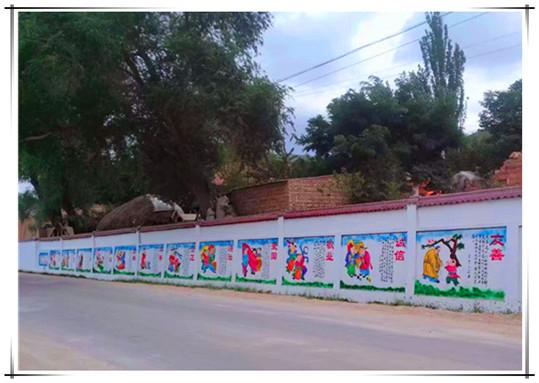 广西南宁文化墙彩绘专业彩绘手绘墙画壁画-广西港冠墙体彩绘公司
