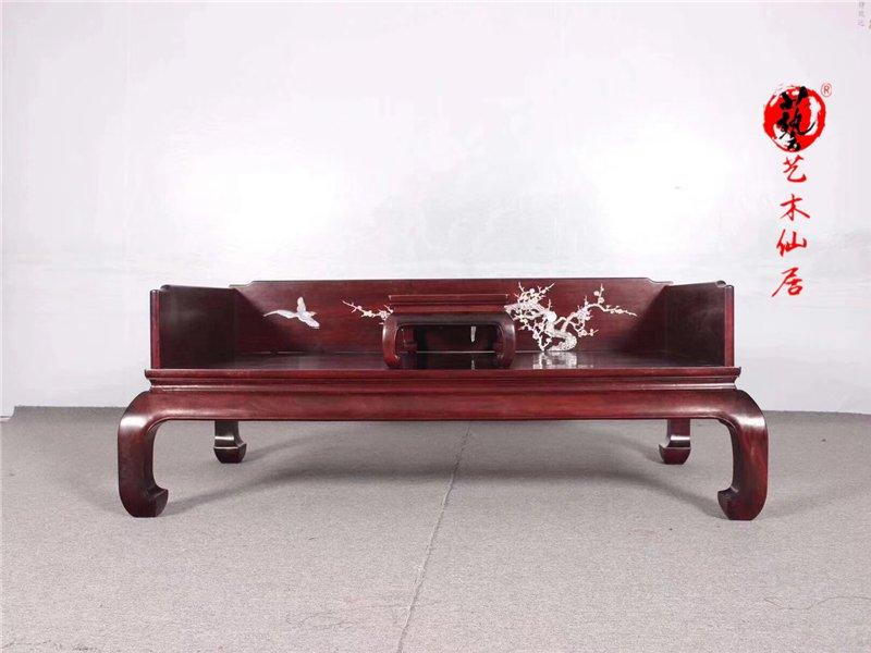 红木赞比亚血檀罗汉床实木中式红木沙发床明清仿古家具实木床