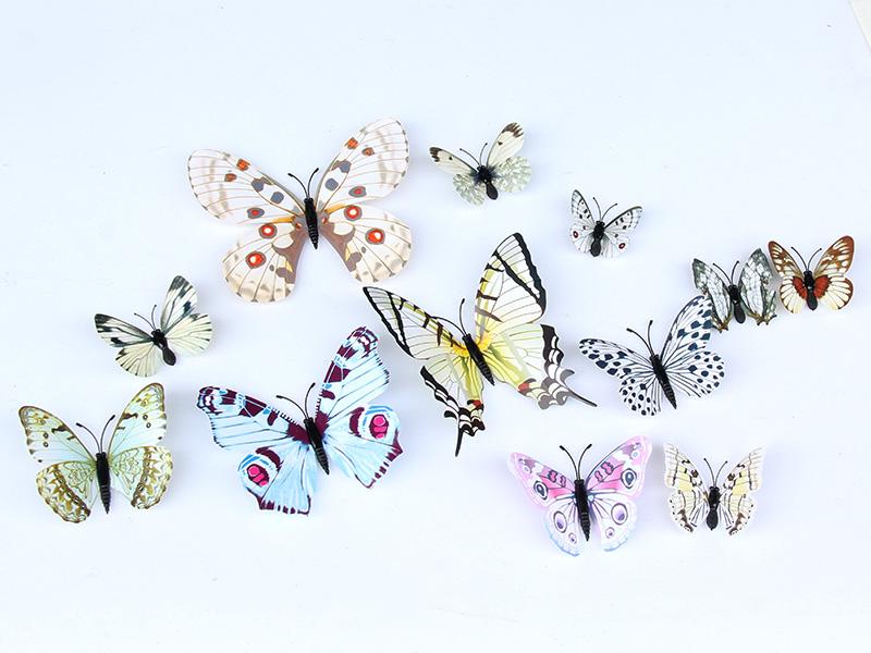 仿真蝴蝶厂家供应——温州性价比高的素雅白蝴蝶墙贴哪里可以买到