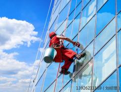 广州冠邦建筑玻璃幕墙清洗工程