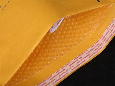 气泡袋公司|郑州哪里买实用的金黄色牛皮纸气泡袋