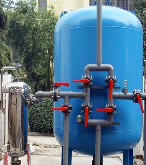工業大型去除中水雜質水處理設備多介質過濾器 除鐵錳過濾器定制
