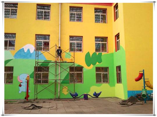 广西港冠彩绘公司-南宁武鸣邕宁幼儿园墙体彩绘墙绘手绘壁画喷画