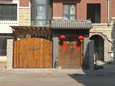 常熟防腐木廊架_想要购买优良的经典门楼找哪家