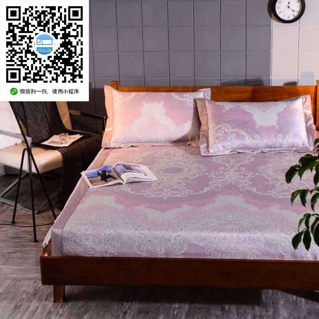 供销南通纺织床上用品小程序,大量供应出售实惠的凡尔赛紫蕾丝三件套