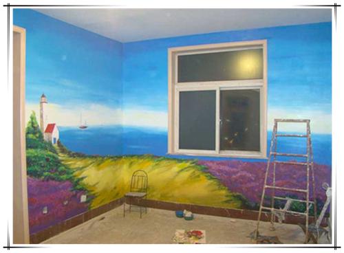 百色學校手繪墻、幼兒園壁畫 鄉村旅游景區彩繪 游樂場墻繪噴繪