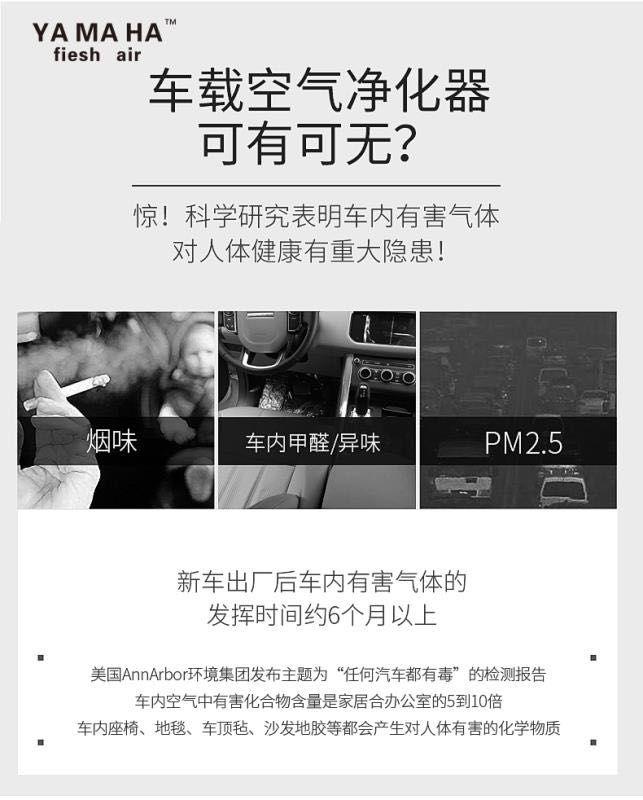 浙江雅马哈净化器生产商-舟山车载净化器商家
