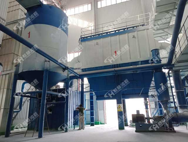 新疆1250目碳酸钙粉磨设备HCH980超细微粉环辊磨粉机
