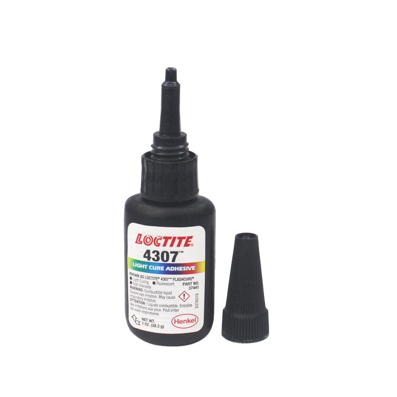 汉高乐泰4307胶水进口乐泰4307uv紫外线固化胶胶粘剂