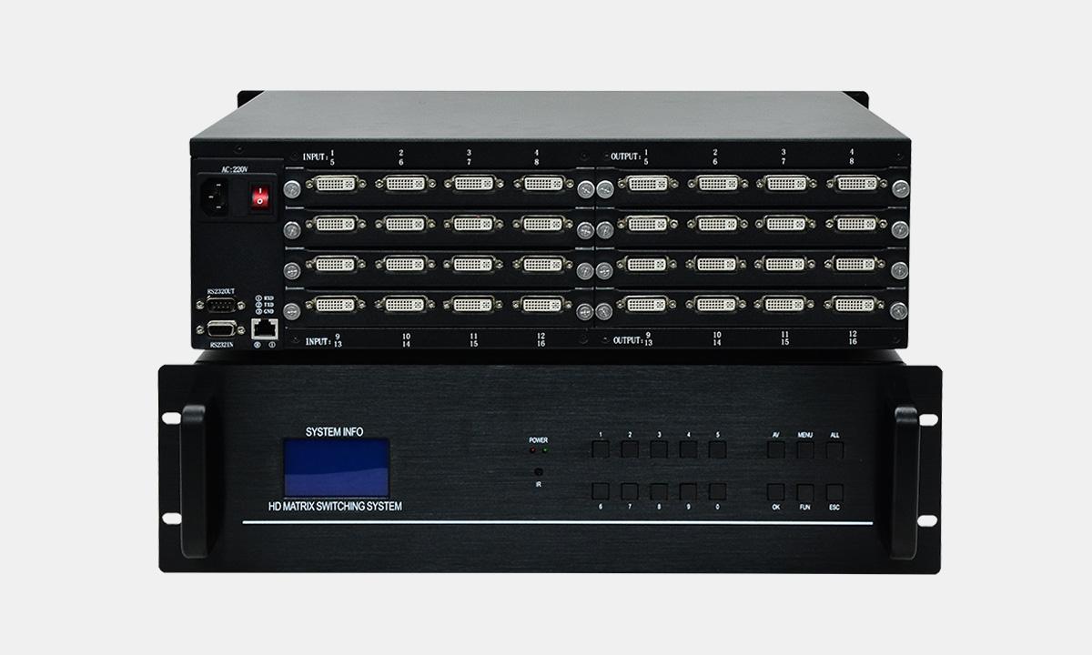 广东口碑好的16进16出DVI矩阵供销|畅销DVI矩阵切换器