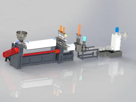 宁波塑料机械厂家无网模头造粒机水环切粒机厂家