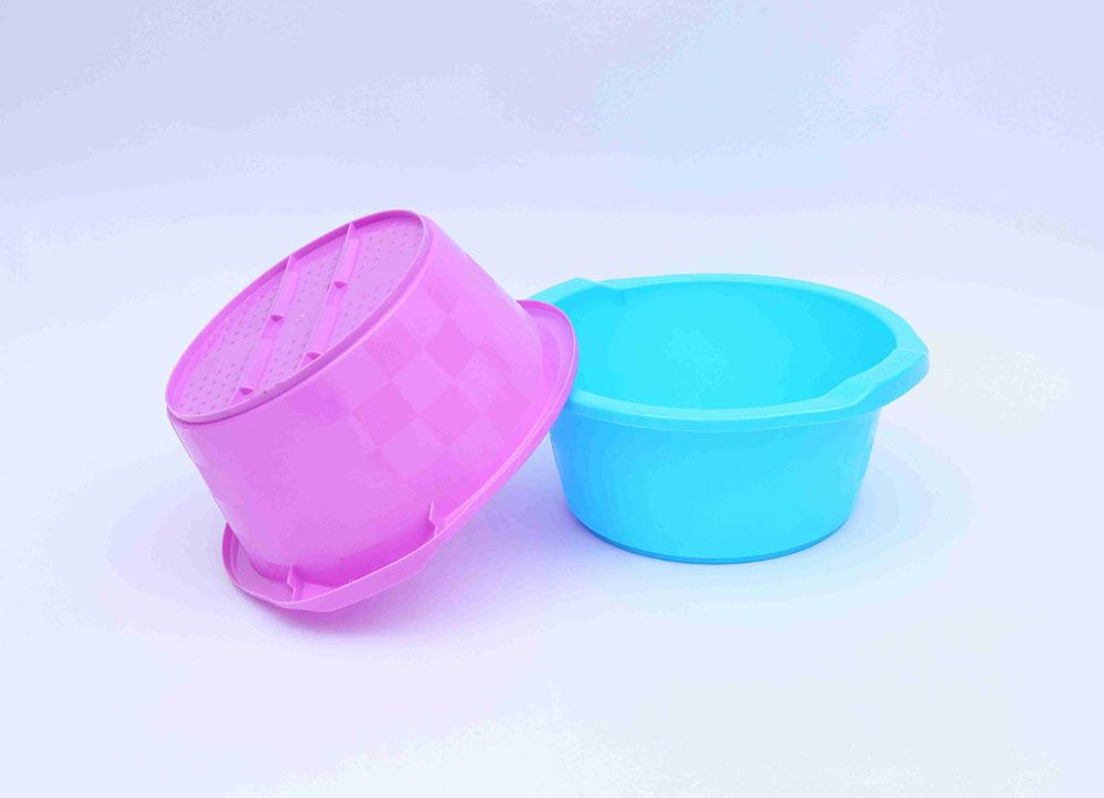 塑料盆厂家定制厂家哪家好-浅色家用垃圾桶