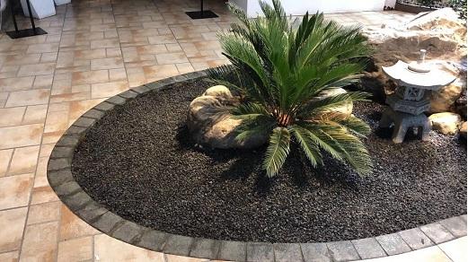 日式庭院景观常用小石子建筑水泥路面常用黑碎石