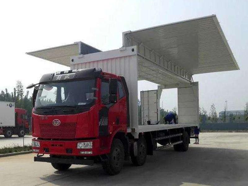集装箱展翼车价格,实惠的集装箱展翼车手拉手机械供应
