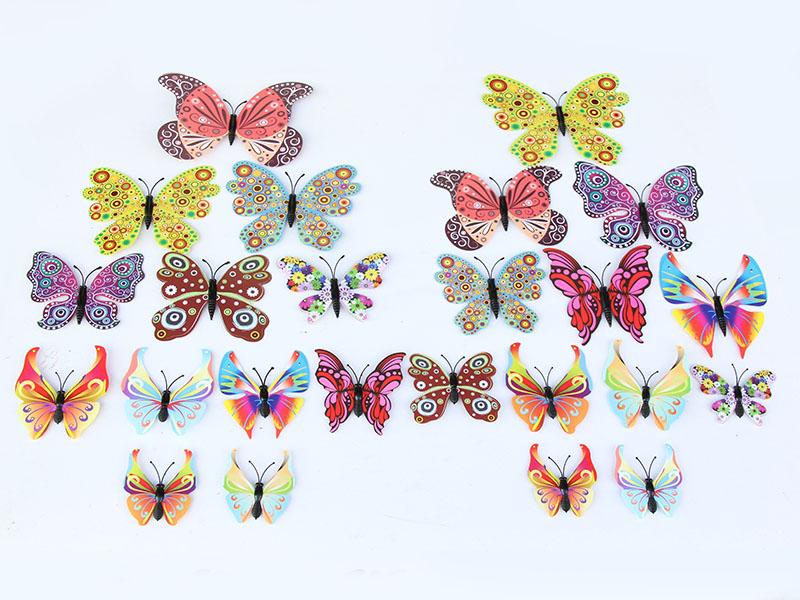 出售仿真蝴蝶——精巧的夜光蝴蝶墙贴温州金蝴蝶工艺品优惠供应