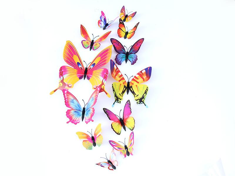 专业的夜光蝴蝶墙贴提供商—温州金蝴蝶工艺品 仿真蝴蝶货真价实