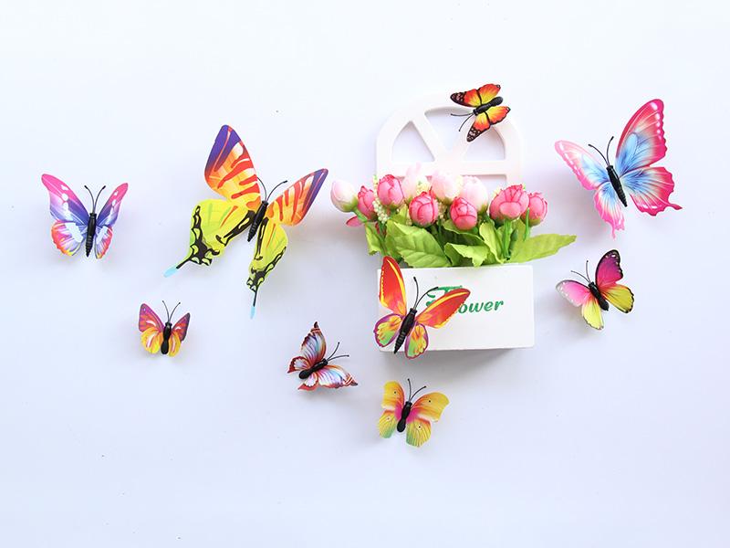 买物超所值夜光蝴蝶墙贴,就到温州金蝴蝶工艺品——仿真蝴蝶值得信赖