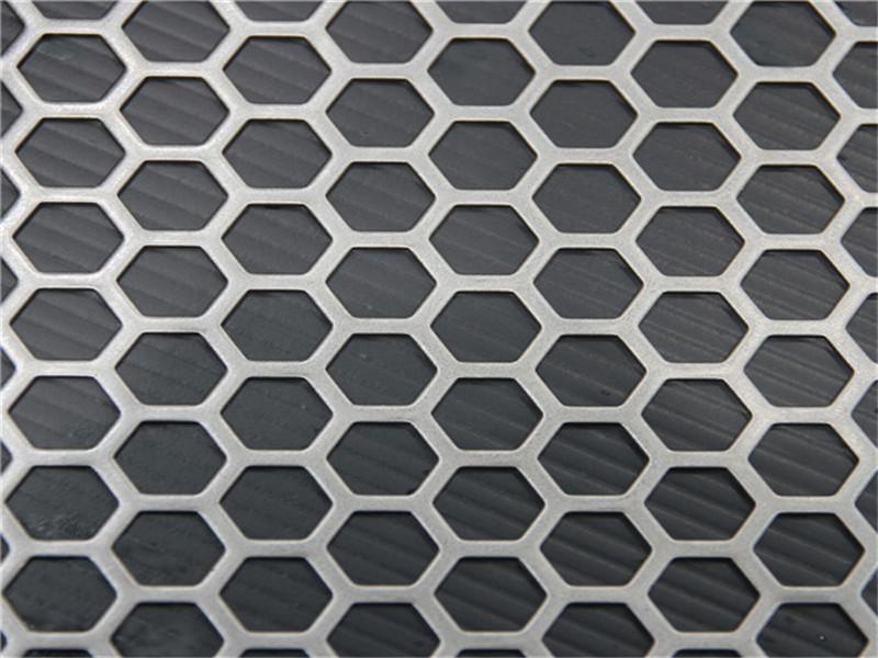 六角孔装饰冲孔板--安平县万诺丝网
