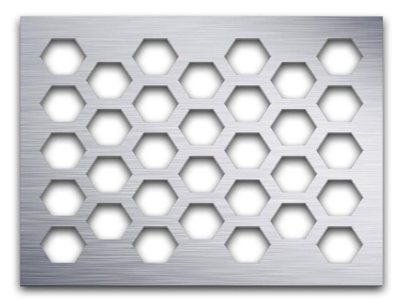 六角孔冲孔镀锌钢板--安平县万诺丝网