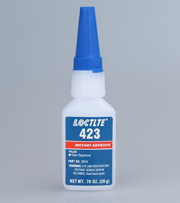 美国乐泰423胶水低白化瞬干胶强力快干胶低气味胶水