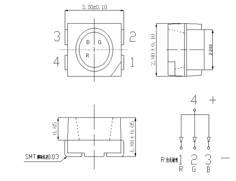3528白光贴片LED规格-质量好的3528带透镜LED灯珠台湾台铭光电供应