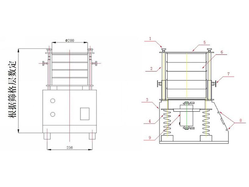 万安机械WJ-200检验分析筛厂家供应 检验筛厂家
