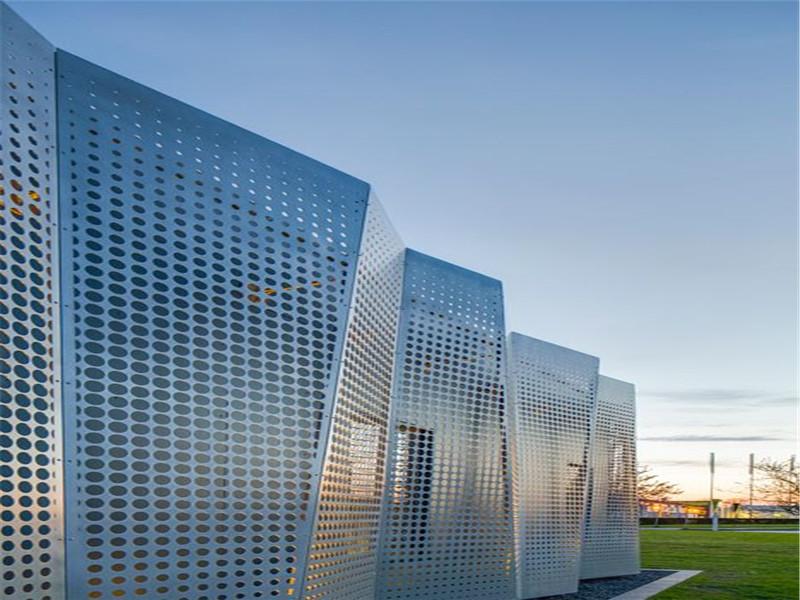 金属外墙冲孔板--安平县万诺丝网