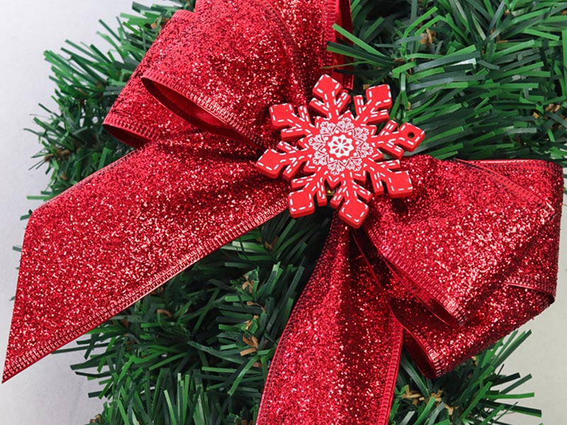 圣诞花圣诞带丝带圣诞带雪纱带圣诞带
