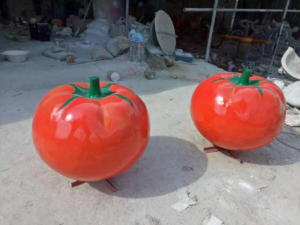 超越雕塑_水果雕塑设计新颖-玻璃钢仿真蔬菜雕塑