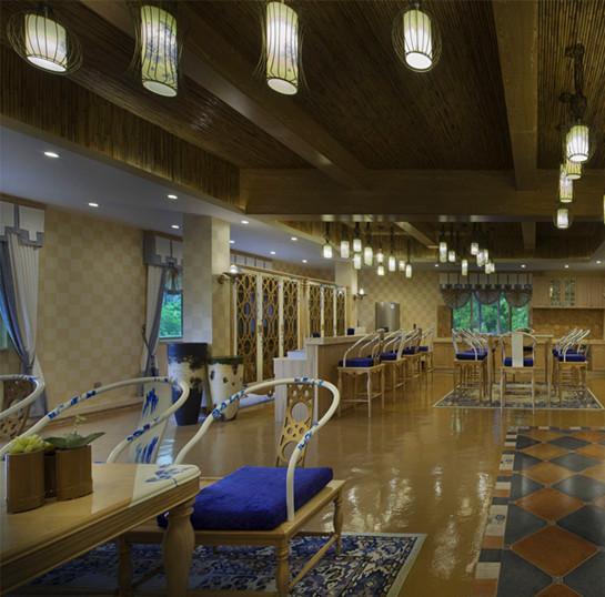 中国风的办公空间设计 郑州中式办公室装修效果图 河南装修