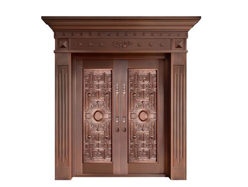 广西双开铜门,纯铜门价格