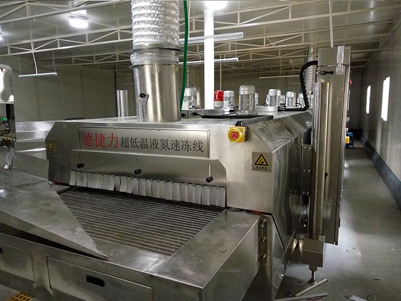 液氮速冻隧道品牌-德捷力冷冻提供质量良好的液氮速冻隧道
