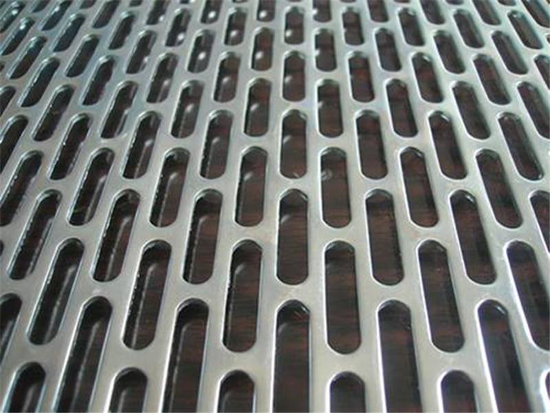 金属板腰圆孔冲孔网--安平县万诺丝网
