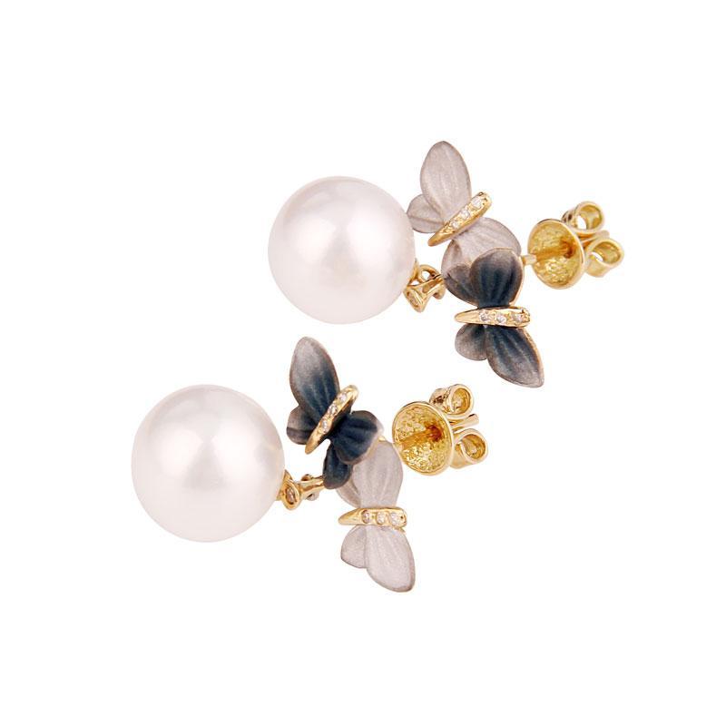 口碑好的白珍珠蝴蝶耳环,价位合理的白珍珠耳环