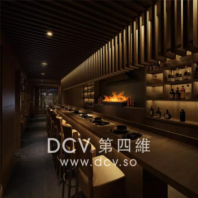 惠舍.炉端烧日式料理(禾盛京广中心)怀旧雅风餐厅室内装修设计