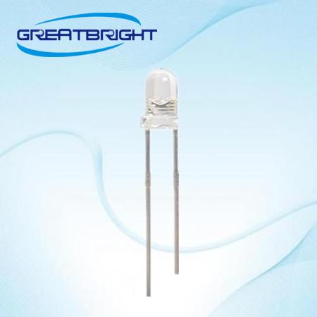 3mm直插蓝光视觉光源专用led灯珠