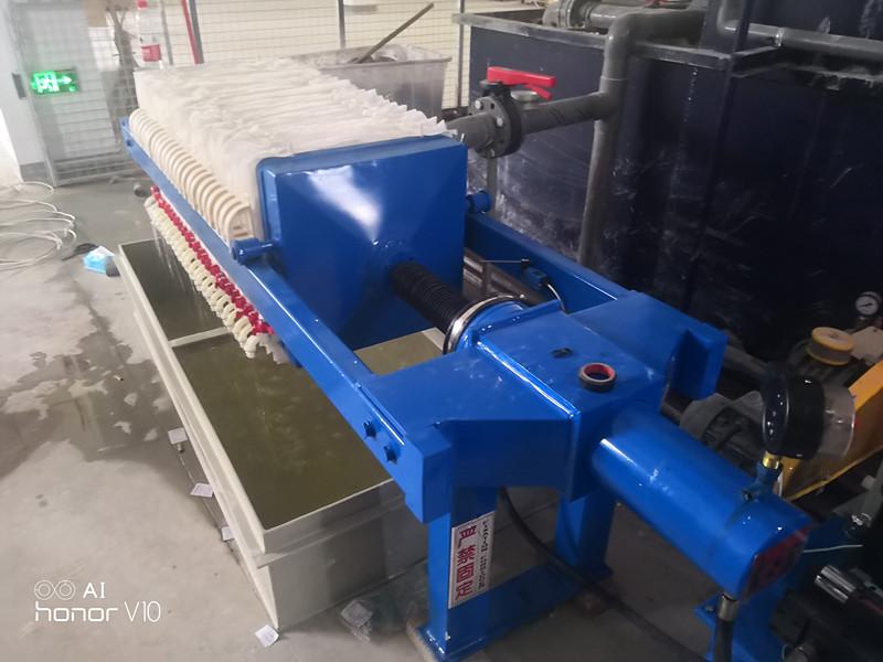 玻璃廢水專用小型壓濾機興泰過濾專業制造