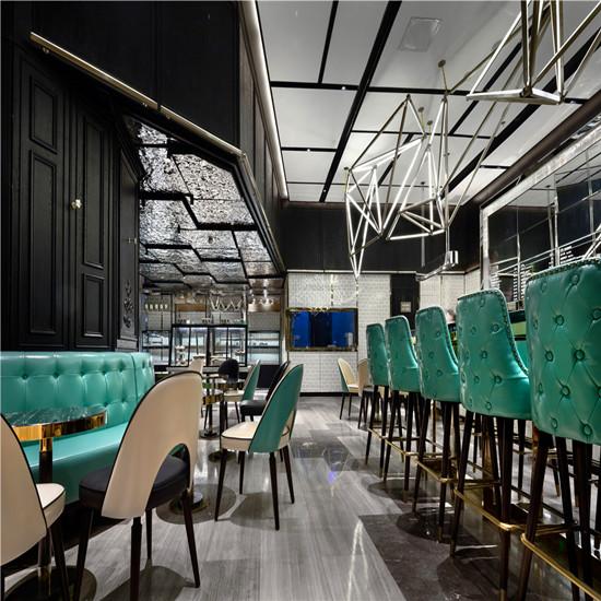 郑州咖啡店装修设计公司 河南店铺装修 简欧品默烘焙店装修设计